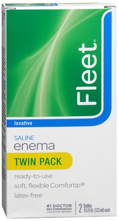 Fleet Saline Enema Twin Pack 9 oz [301320201420]