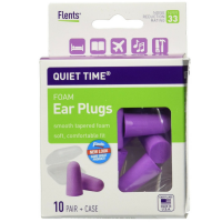 Flents Quiet Time Soft Foam Ear Plugs with Carrying Case 10 pairs