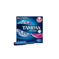 Tampax Pearl Plastic Tampons Ultra Unscented Ultra Absorbency 18 Each [073010009868]
