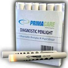 Primacare Disposable Penlight With Pupil Gauge  6 ea [189365000235]