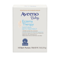 AVEENO Baby Eczema Therapy Soothing Bath Treatment with Natural Oatmeal,  10 ea [381371187614]