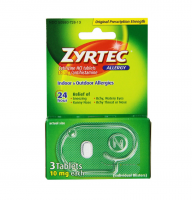 Zyrtec Allergy 10 mg Tablets, Blister Pack 3 ea [300450204431]