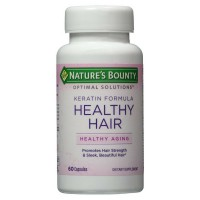 Nature's Bounty Optimal Solutions Keratin Formula Healthy Hair Capsules 60 ea [074312647895]