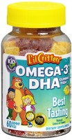 L'il Critters Omega-3 Gummy Fish 60 Each [027917014265]