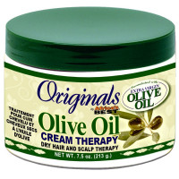 Africa's Best Organics Olive Oil Dry Hair and Scalp Cream Therapy 7.5 oz [034285540074]