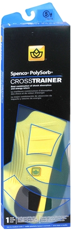 Spenco PolySorb Cross Trainer Premium Insoles #5 1 Pair [038472359159]