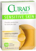 Curad Sensitive Skin Bandages Spots 50 Each [080196300238]