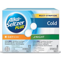 Alka Seltzer Day & Night Cold Medicine Effervescent Tablets with Pain Reliever/Fever Reducer 20 ea [016500572633]