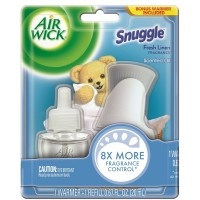 Air Wick Scented Oil Air Freshener Starter Kit, Snuggle Fresh Linen, 1 ct [062338857237]