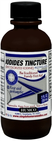 Humco Iodides Tincture (Decolorized Iodine) 2 oz [303951207925]