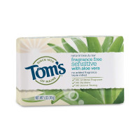 Tom's of Maine Natural Beauty Bar Soap with Aloe Vera, Fragrance Free, 5 oz  [077326450871]