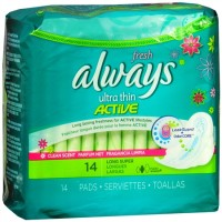 Always Fresh Ultra Thin Pads Long Super Flexi-Wings 14 Each [037000029250]