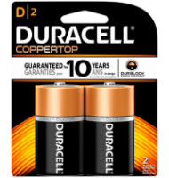 Duracell Coppertop D Alkaline Batteries 2 Each [041333213019]