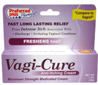Vagi-Cure Anti-Itching Cream, Maximum Strength 1 oz [067742500045]