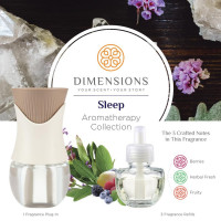 Dimensions Aromatherapy Sleep Collection Fragrance Plug-in&3 Refills for up to 4 Months of Brilliant Fragrance 1 ea [691039107862]