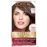 L'Oreal Paris Excellence Créme Permanent Hair Color, 5AB Mocha Ashe Brown 1 ea [071249121436]