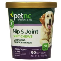 Pet Natural Care Hip & Joints Soft Chew For Dogs, Liver Flavor 90 ea [740985275917]