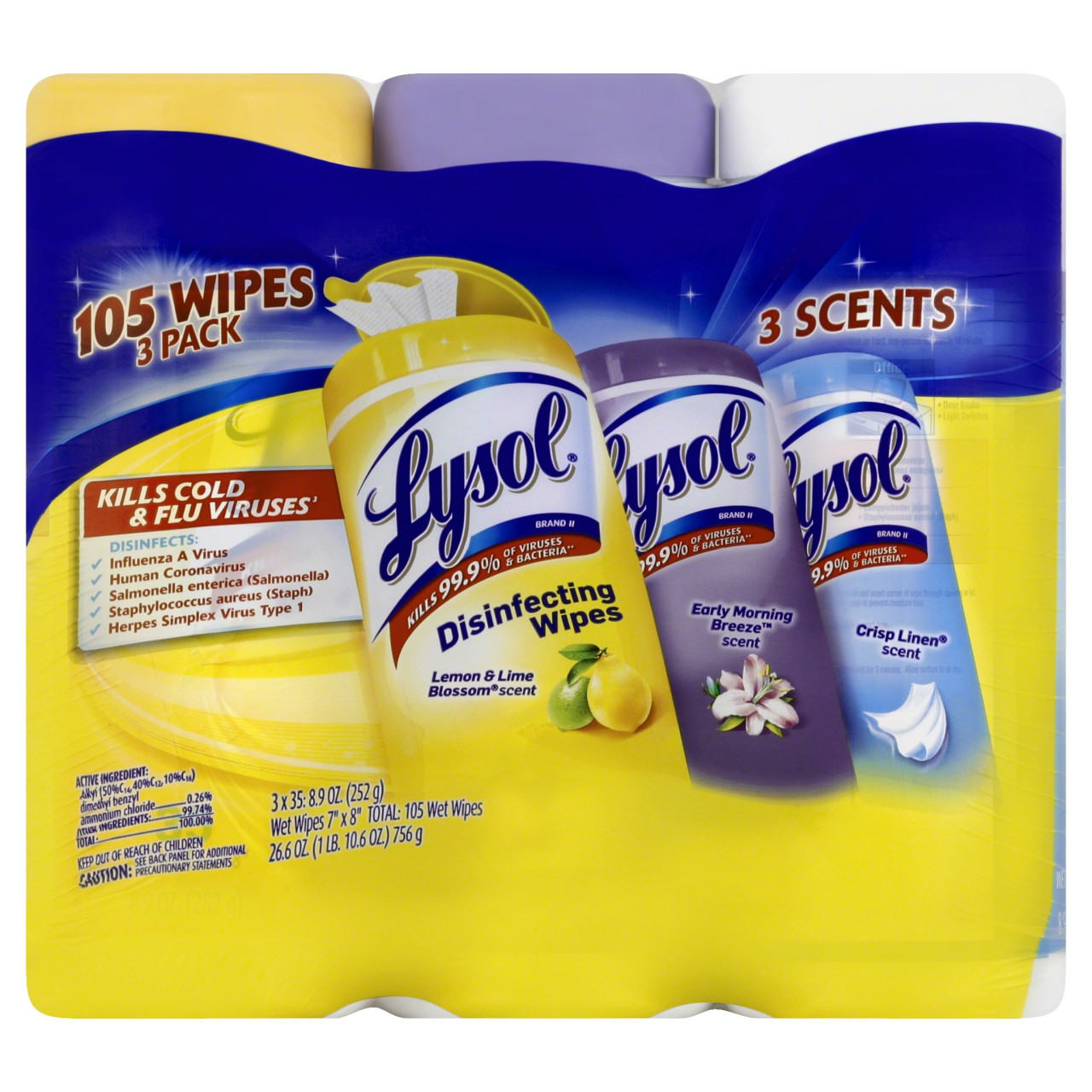 Lysol Disinfecting Wipes, Lemon, Early Morning Breeze ...