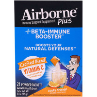 Airborne Plus Beta-Immune Booster Zesty Orange Powder Packets 21 ea [647865970613]