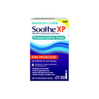 Bausch & Lomb Soothe Xtra Protection Preservative Free Emollient Lubricant Eye Drops, 30 ea [310119022382]