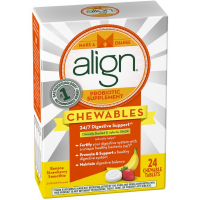 Align Probiotic Supplement Chewable Tablets, Banana Strawberry Smoothie 24 ea [037000961680]