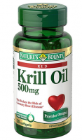 Nature's Bounty  Red Krill Oil 500 mg Dietary Supplement Softgels 30 Soft Gels [074312512391]
