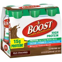 BOOST High Protein Nutritional Energy Drinks, Chocolate 8 oz, 6 ea [041679940662]