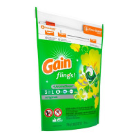 Gain Flings! Original Scented Laundry Detergent Pacs, 35 ea [037000867562]