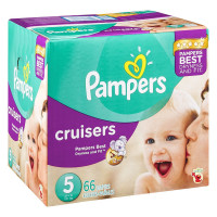 Pampers Cruisers Diapers, Size 5 66 ea [037000862703]