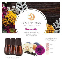Dimensions Aromatherapy Romantic Collection Refills- 3 Refills for up to 4 Months of Brilliant Fragrance 1 ea [691039107879]