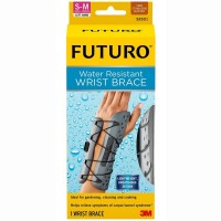FUTURO Water Resistant Wrist Brace for Left Hand, Small/Medium 1 ea [051131193628]