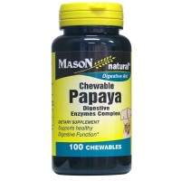 Mason Natural Papaya Digestive Enzymes Complex Chewable Tablets 100 ea [311845054715]