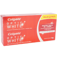 Colgate Optic White Anticavity Fluoride Toothpaste, Sparkling Mint 5 oz, 2 ea [035000766885]