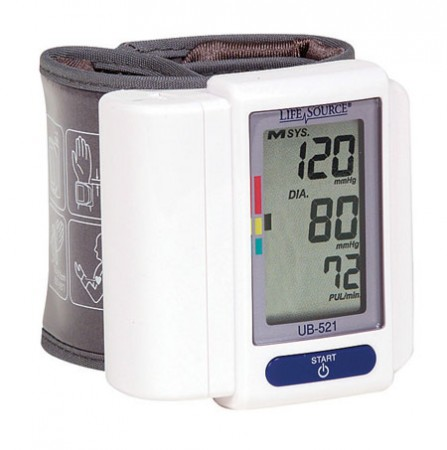 LifeSource Digital Blood Pressure Monitor Wrist 1 Each [093764602139]