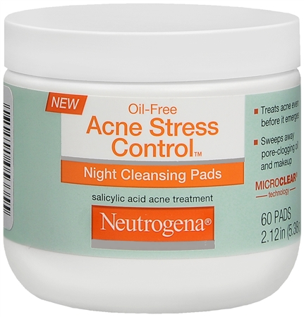 Neutrogena Acne Stress Control Night Cleansing Pads 60 Each [070501053355]
