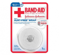 JOHNSON & JOHNSON Band-Aid First Aid Hurt-Free Wrap 1 Inch X 2.3 Yards 2.30 Yards [381371161454]