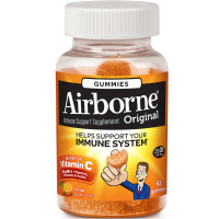 Airborne Orange Flavored Gummies, 63 count - 1000mg of Vitamin C and Minerals & Herbs Immune Support [647865963394]