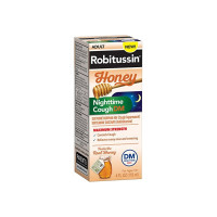 Robitussin Honey Maximum Strength Nighttime Cough DM, 4 oz [300318758120]