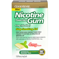 Good Sense Nicotine Polacrilex Gum, Mint, 4mg 110 ea [301130422251]