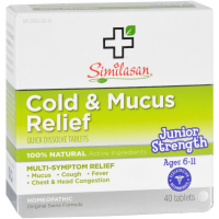 Similasan Junior Strength Cold & Mucus Relief Quick Dissolve Tablets 40 ea [094841500027]