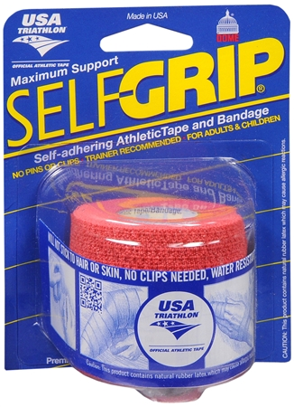 Self-Grip Self-Adhering Athletic Tape Bandage 2 Inches, Red 1 ea [078509033522]