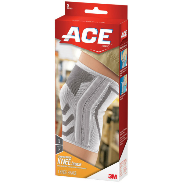 Ace Knitted Knee Brace With Side Stabilizers Small