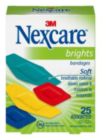 Nexcare Brights Comfort Fabric Bandages Assorted 25 Each [051135815021]