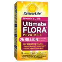 ReNew Life Ultimate Flora Women's Daily Probiotic Veggie Capsules 30 ea [631257158635]