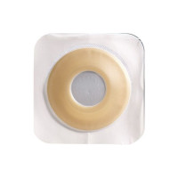 "Colostomy Barrier SurFit Natura PreCut Extended Wear Durahesive White Tape 134"" Flange Hydrocolloid 78"" Stoma, 10 ea [768455106400]"