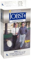 JOBST SupportWear SensiFoot Knee High Socks 8-15 mmHg White Medium 1 Pair [035664108328]