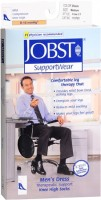 JOBST SupportWear Socks Men's Dress Knee High Mild Compression 8-15mmHg Black Medium Close-Toe 1 Pair [035664107819]