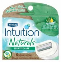 Schick Intuition Naturals Cartridges Sensitive Care 6 Each [84105804069]