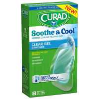 Curad Soothe and Cool Clear Gel Bandages 8 ea [888277363192]