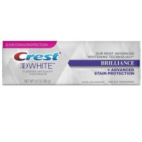 Crest 3D White Brilliance Toothpaste, Vibrant Peppermint 4.1 oz [037000889427]